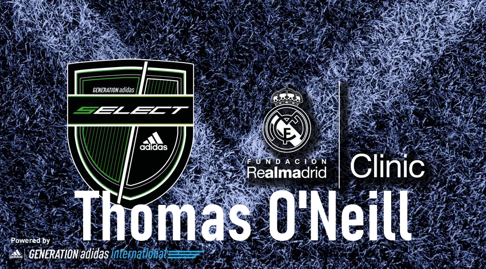 Thomas O'Neill joins Real Madrid as part of Generation Adidas Select Program!