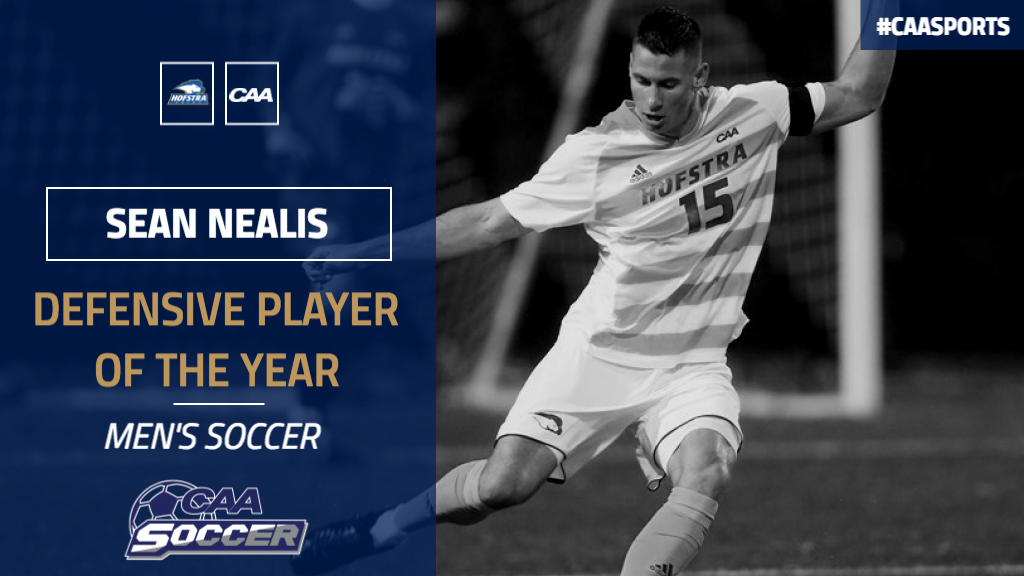 Sean Nealis CAA Defensive Player of the Year!