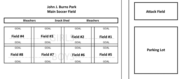 Burns Park U5-U8 Small-Sided Field Map